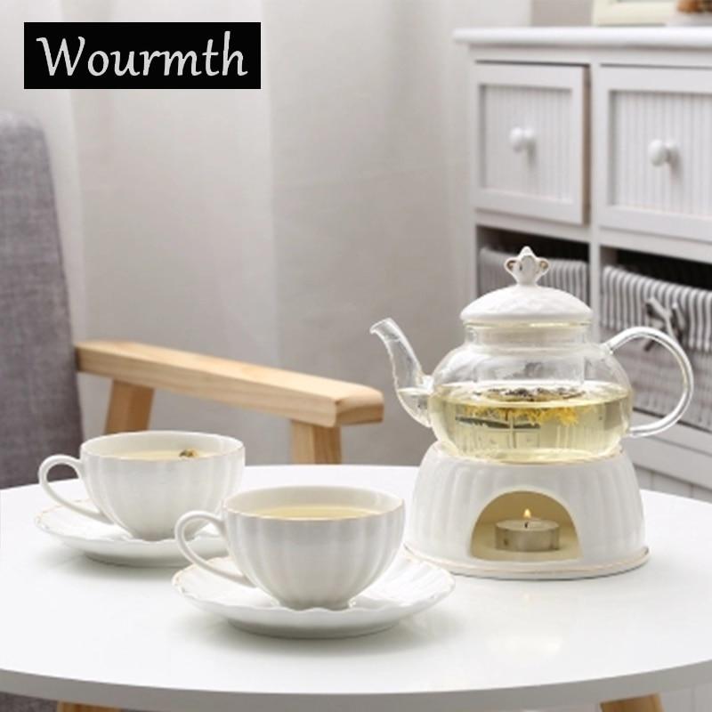 Wedding Gift China: Wourmth Lavender Flower Tea Set Wedding Gift Heatable