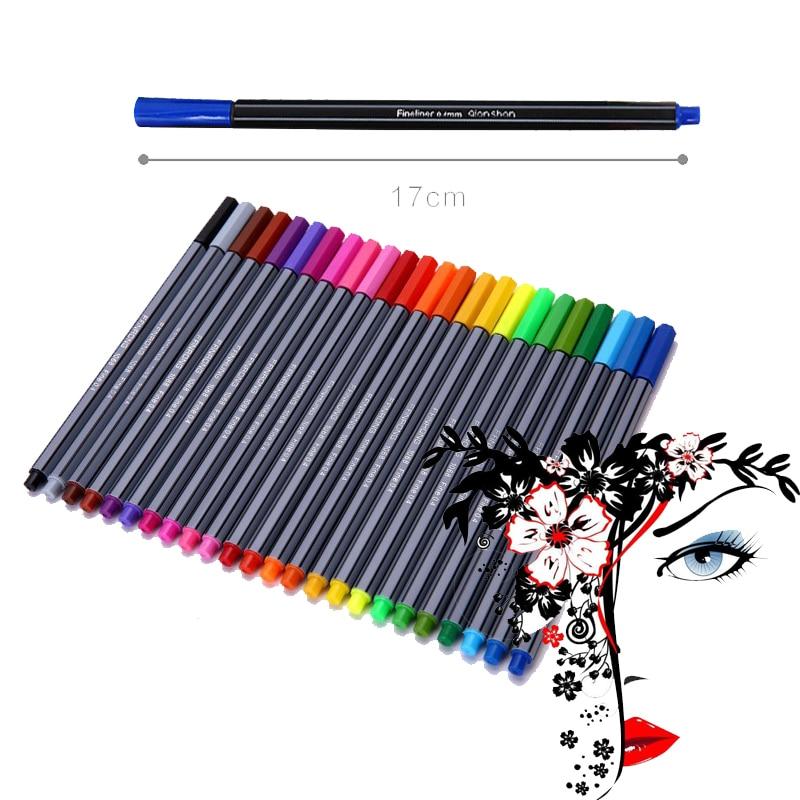 Kemila 0,4mm 24 Farbe Faser Stift art Marker Fineliner Stifte Für ...