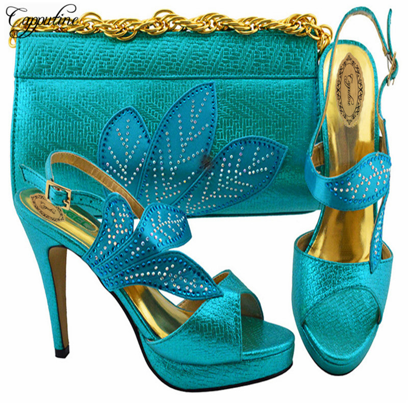 Capputine African Fashion Woman Pumps Shoes And Bags Set Hot Sale Italian Nice Shoes And Bag Set For Party Size 37-43 YK1068Capputine African Fashion Woman Pumps Shoes And Bags Set Hot Sale Italian Nice Shoes And Bag Set For Party Size 37-43 YK1068