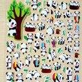 1 pcs Cute Animals  panda Diary Decoration Kids Stickers 3D PVC Korea Stationery Kindergarten Baby Christmas Gift Children Toys