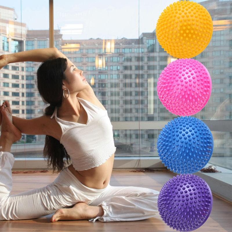 4 Colors Yoga Half Ball Physical Fitness Appliance Exercise Balance Ball Point Massage Stepping Stones GYM Yoga Balls Pilates
