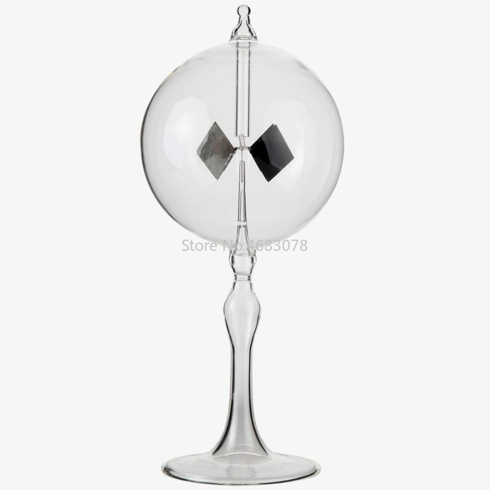 Solar Power Crookes radiometer model educational equipment radiometer light pressure windmill bolometer