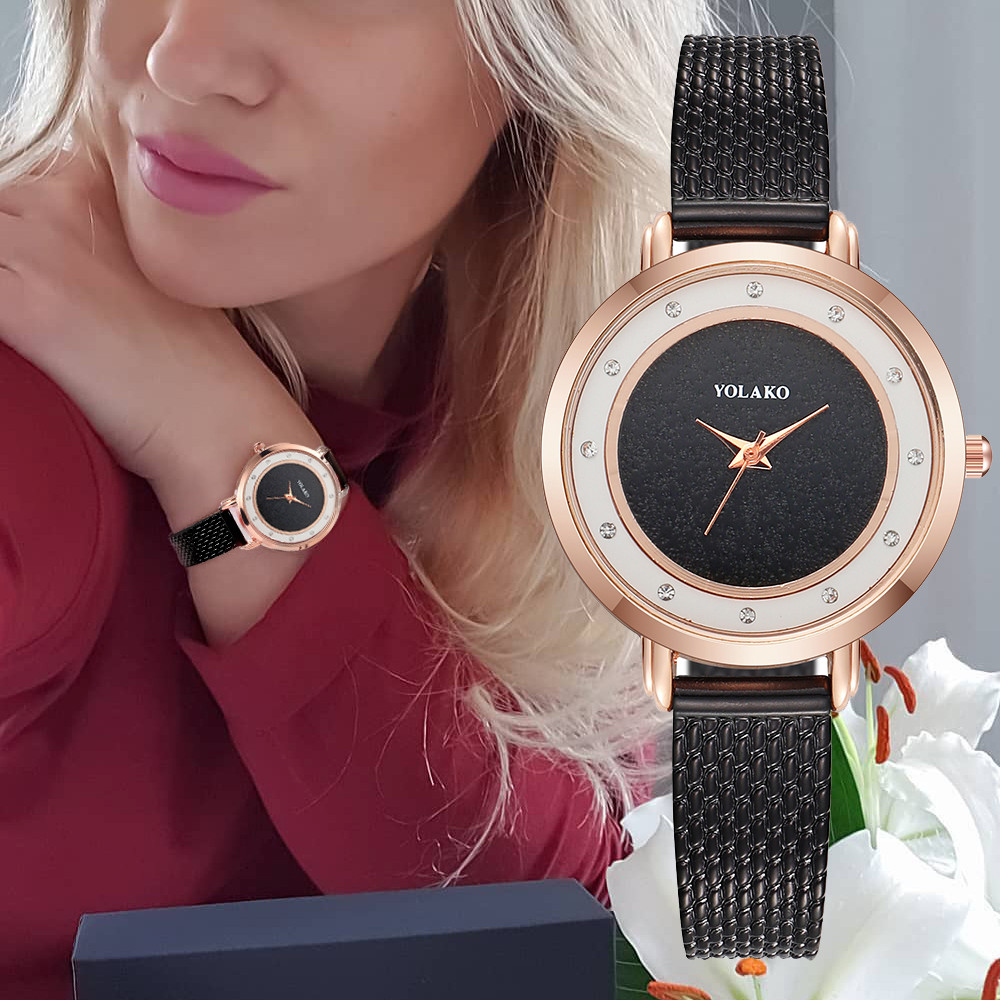 YOLAKO New Mesh Ladies Clock Diamond Womens Watches Minimalist Relogio Feminino Watch Women Elegant Hour Reloj Mujer Hot 533YOLAKO New Mesh Ladies Clock Diamond Womens Watches Minimalist Relogio Feminino Watch Women Elegant Hour Reloj Mujer Hot 533