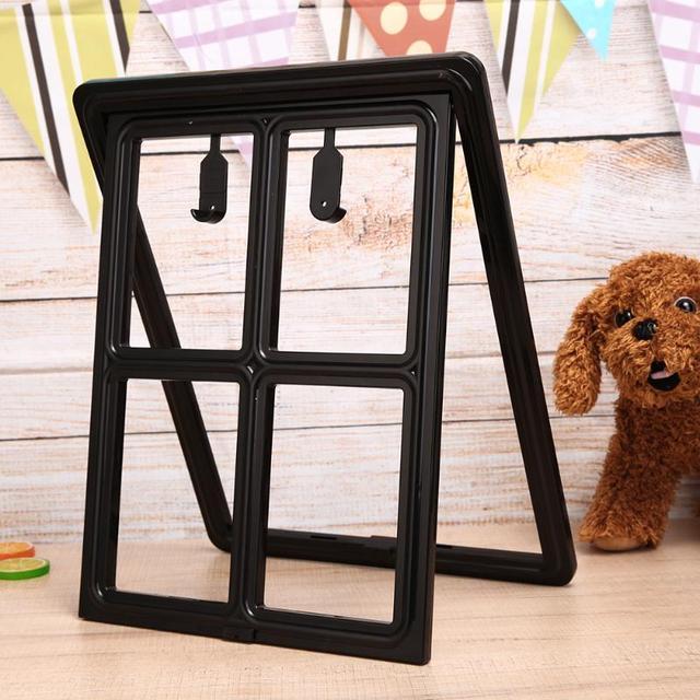 Pet Products Plastic Pet Cat Puppy Dog Gates Door Safe Flap Door Mesh Window Gate Dog Flap Wall Mount Door For Pets