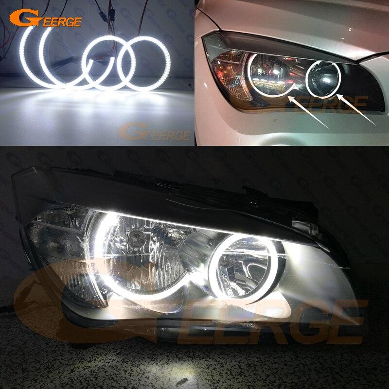 For BMW X1 E84 2010 2011 2012 2013 2014 Halogen headlight perfect compatible Ultra bright illumination smd led Angel Eyes kit
