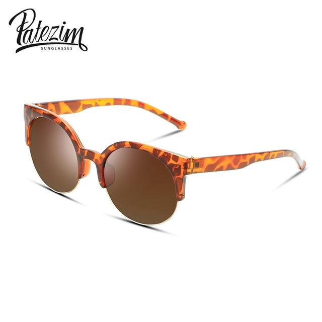 2017 Hot Selling Fashion Vintage Sunglasses Retro Cat Eye Semi-Rim Round Sunglasses for Men Women Sun Glasses Eyewear Eyeglasses