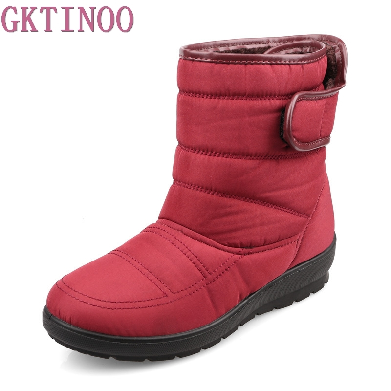 2017 winter casual snow boots waterproof women ankle boots thermal flat slip-resistant fashion winter shoes woman boots