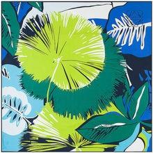 Sciarpe quadrate grandi di marca di lusso da 130cm scialle da donna nuove foglie di piante stampa sciarpa Bandana gigante sciarpa in Twill 100% seta per donna