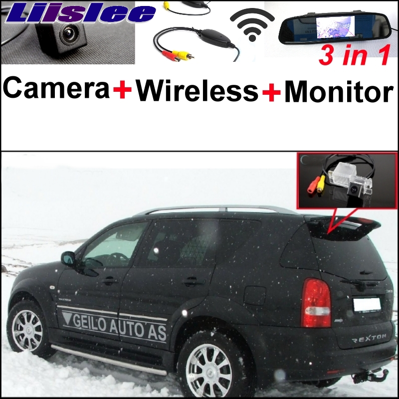 Liislee For SsangYong Rexton irror Monitor Easy DIY Parking SystemY300 3 in1 Special Rear View Camera + Wireless Receiver + M ssangyong rexton с пробегом