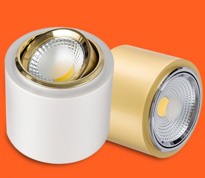 12db / tétel 10W tompítható kerek LED mennyezeti lámpa Felületre - Beltéri világítás