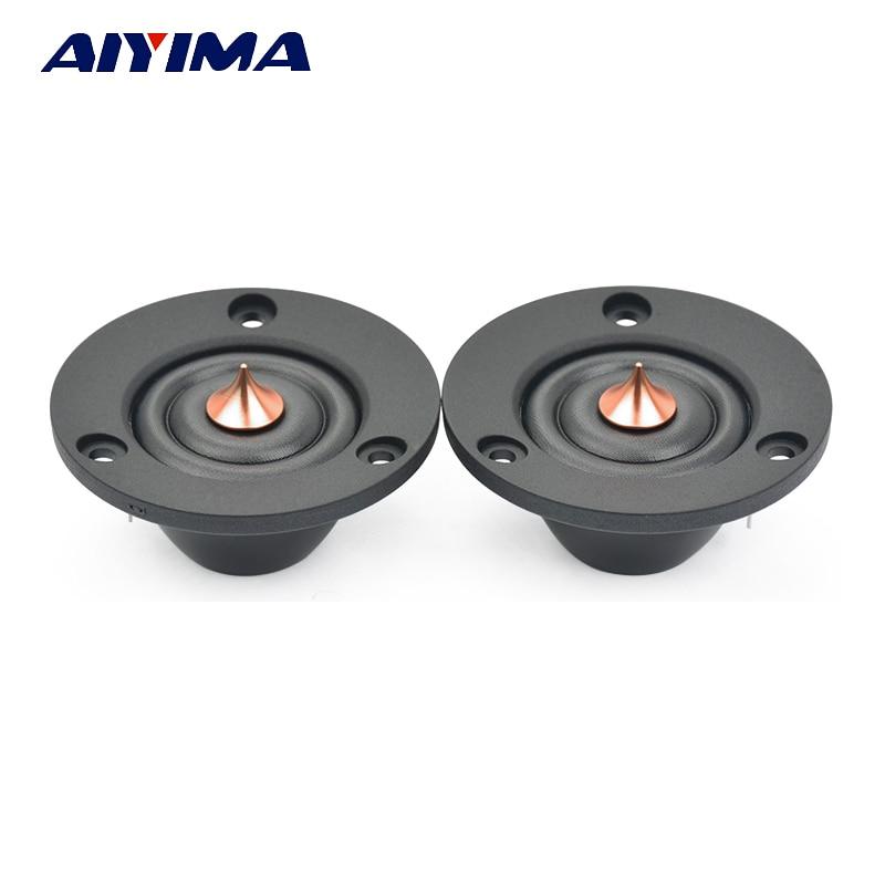 AIYIMA 2 uds 2 pulgadas Tweeter 6 Ohm 30W HIFI seda Domo altavoz de agudos sonido de fiebre altavoz para modificación de coche
