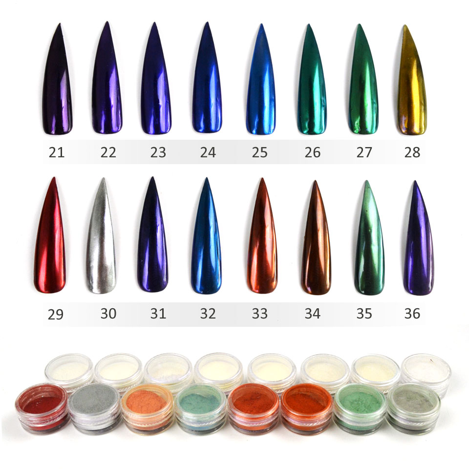 Chrome Nail Powder Cnd: Online Get Cheap Mirror Chrome Nail Polish -Aliexpress.com