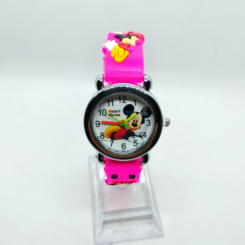 4D Cartoon Mickey Girl Boy Student Watch Children Silicone Quartz Wristwatches Kids Watches Birthday Gift Clock Reloj Mujer Six Lahore