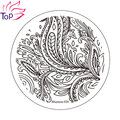 Stainless Steel Nail Art Stamping Template Leaf Design Stencils For Nails Image Polish Plates JH235