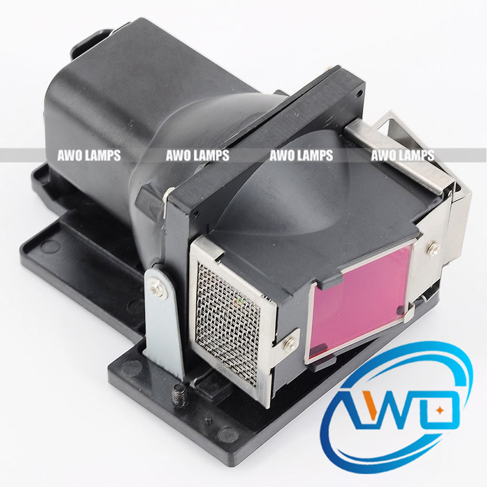 AWO Replacement Projector Lamp 5811116685-S with Housing for  VIVITEK D330MX D330WX 180 Day Warranty awo high quality projector lamp sp lamp 079 replacement for infocus in5542 in5544 150 day warranty