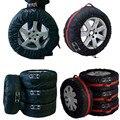 4 Pcs Auto Car Veículos Pneu Sobressalente Roda Pneu Capa Bag Protector Com Alças de Transporte Sacola de Armazenamento De Carro