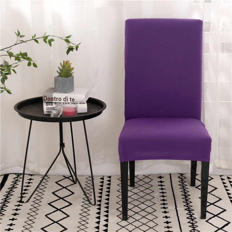 Cubierta para silla de LICRA de Color sólido, funda elástica para asiento de comedor, funda protectora para silla para restaurante, banquete de boda