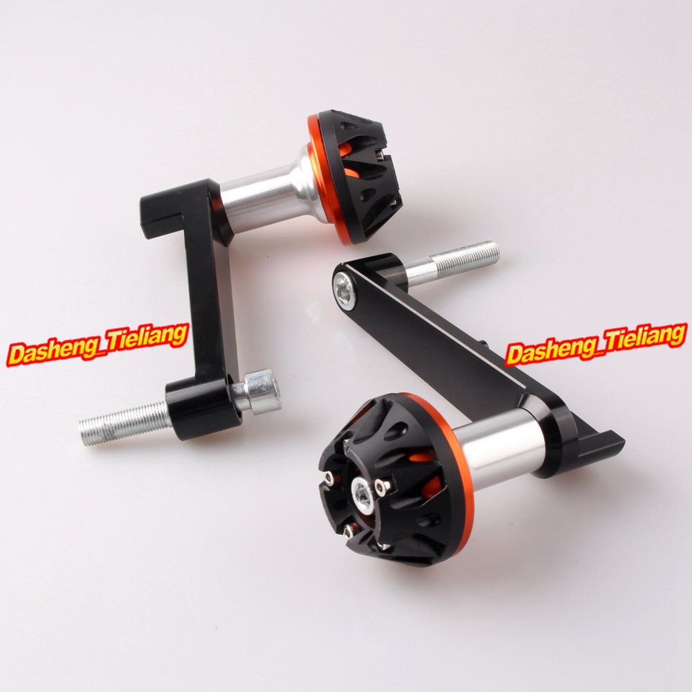 For Honda CBR 1000RR 2008 2009 2010 2011 2012 2013 CNC Aluminum Alloy Frame Sliders Crash Pads Protector, Orange free shipping motorcycle engine cover frame sliders crash protector for honda cbr1000rr 2008 2009 2010 2011 2012
