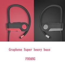Ultra heavy bass Graphene bluetooth headphone 4.0 headset Wireless earphone earphones sport HIFI subwoofer Ears hanging micphone