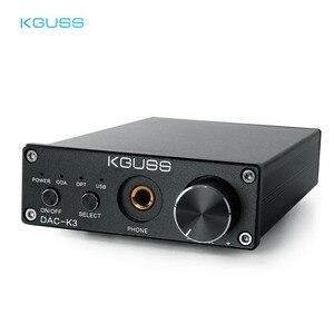 Image 1 - KGUSS DAC K3 MINI HiFi 2.0 Digital Audio Decoder DAC Ingresso USB/Coassiale/Ottica di Uscita RCA/Amplificatore Per Cuffie 24Bit/96 khz DC12V