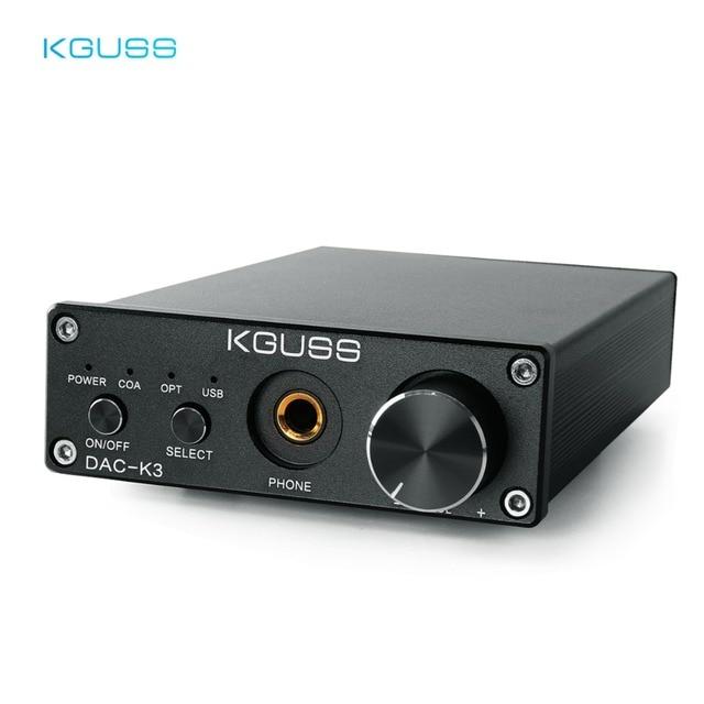KGUSS DAC K3 MINI HiFi 2.0 Digital Audio Decoder DAC Input USB/Coaxial/Optical Output RCA/ Headphone Amplifier 24Bit/96KHz DC12V