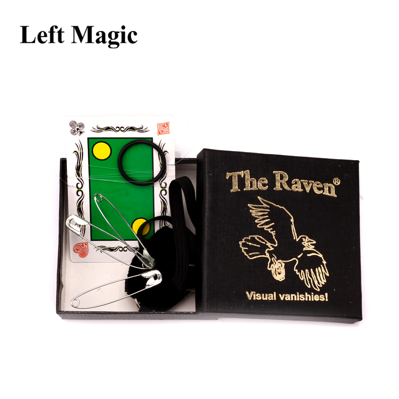 The Raven Magic Tricks Great Visual Vanishing Coin Magic Close-Up Street Professional Magic Gimmick Products Toys