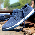 2016 New Autumn Men's Fashion Breathable Denim Canvas Shoes British Style Comfortable Flats Casual Shoes low Skater Sneake