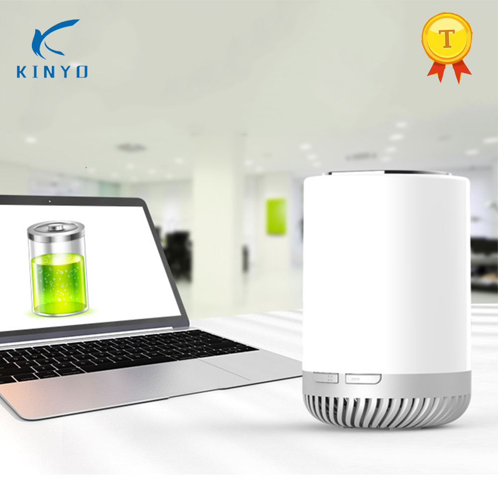 цена на Hot Selling LED Kinyo KY-J68 Lamp Air Purifier Portable Desk Purifier With 1200 mAh DIY Potted For Home Car office
