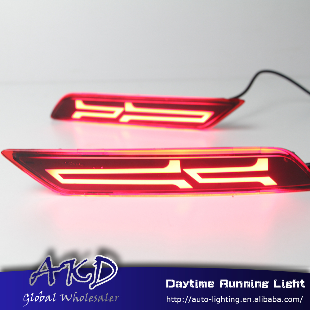 Reflector Honda City Bumper-Light Brake-Lamp Rear for DRL Car-Styling New