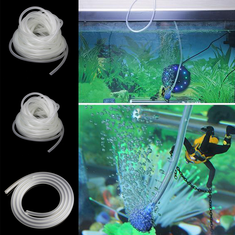 1 5 10m Clear Aquarium PVC Tube Air Pump Oxygen Tubing For Fish Tank 4 6mm