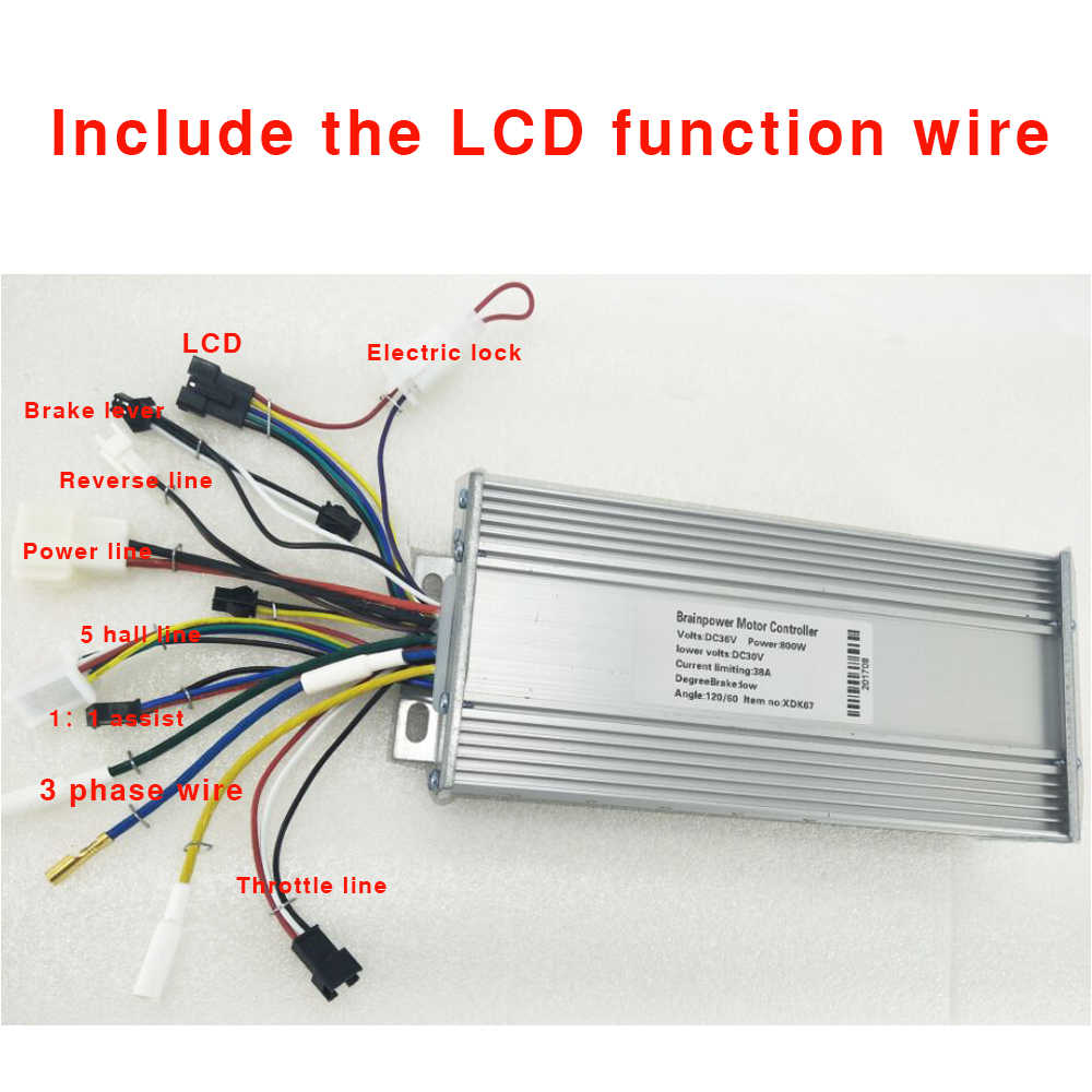DC 36V~48V 500W E-bike Brushless Controller For Scooter Electric Bicycle Motor