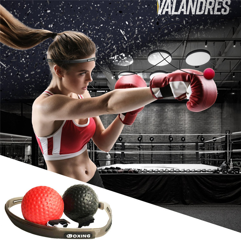 Boxing Punch Training Fight Ball Sport Practice Reflex Speed Tennis Fitness W