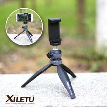 Xiletu xs-20 Мини рабочего маленький телефон Настольная Подставка Штатив для Камера беззеркальных Камера смартфон с Съемная шаровой головкой