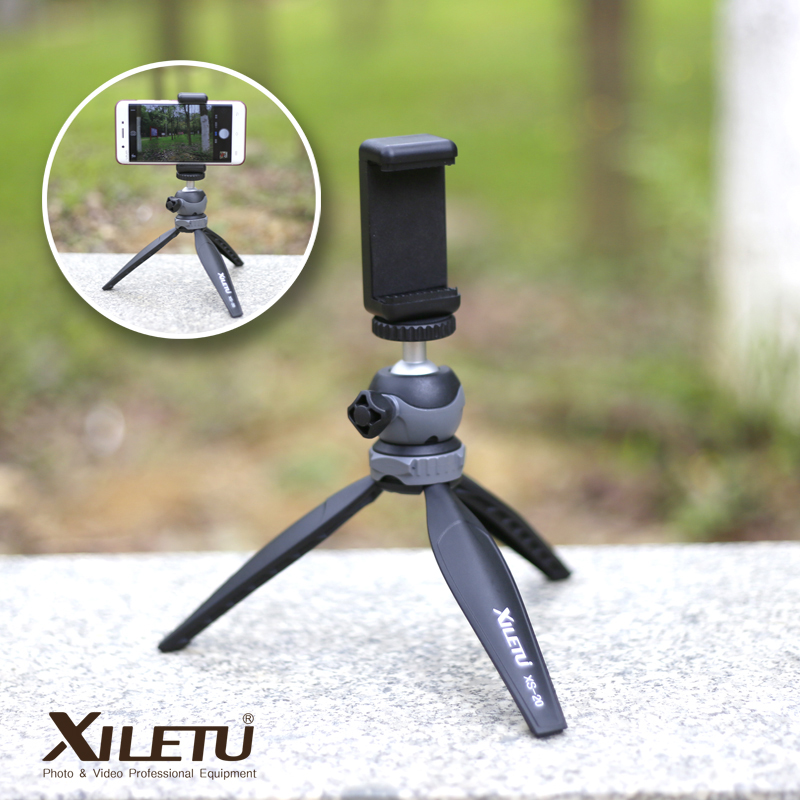 XILETU XS 20 Mini Desktop little Phone Stand Tabletop font b Tripod b font for Camera