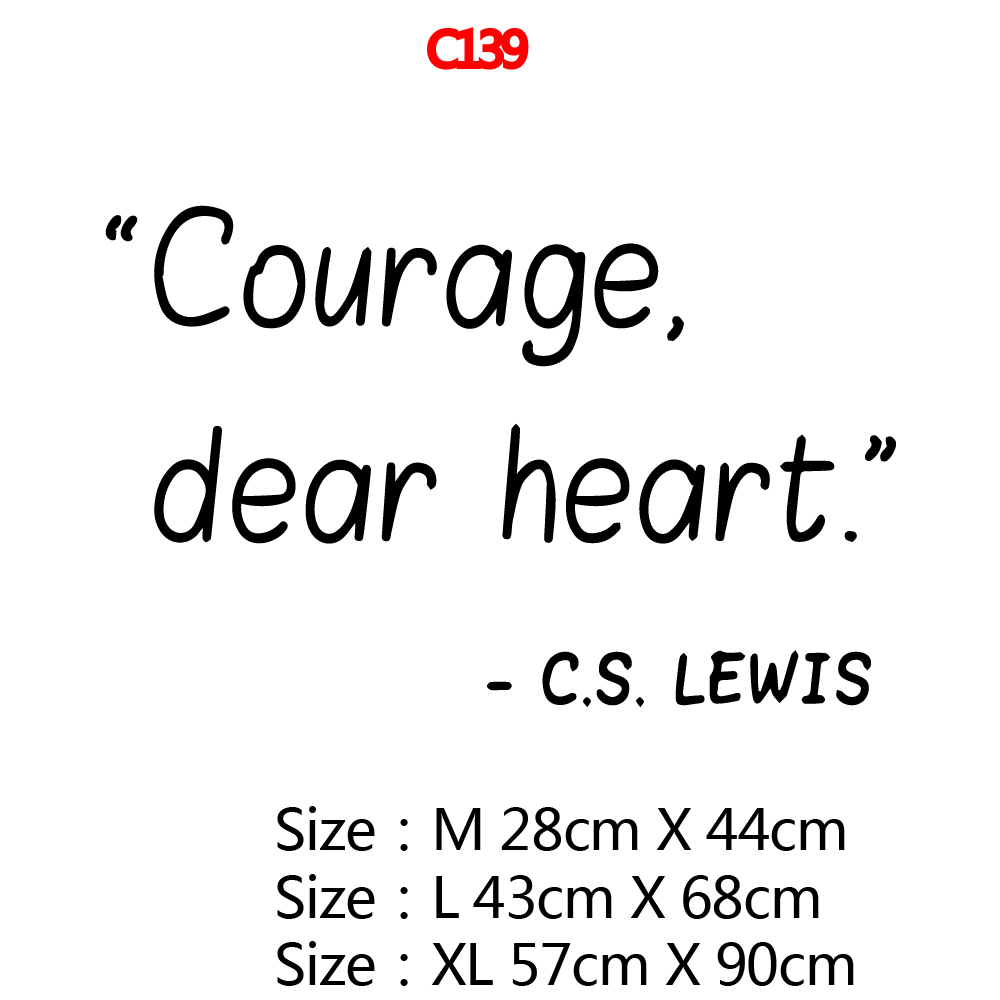 Funny courage dear heart Environmental Protection Vinyl Stickers Kids Room Nature Decor Nordic Style Home Decoration