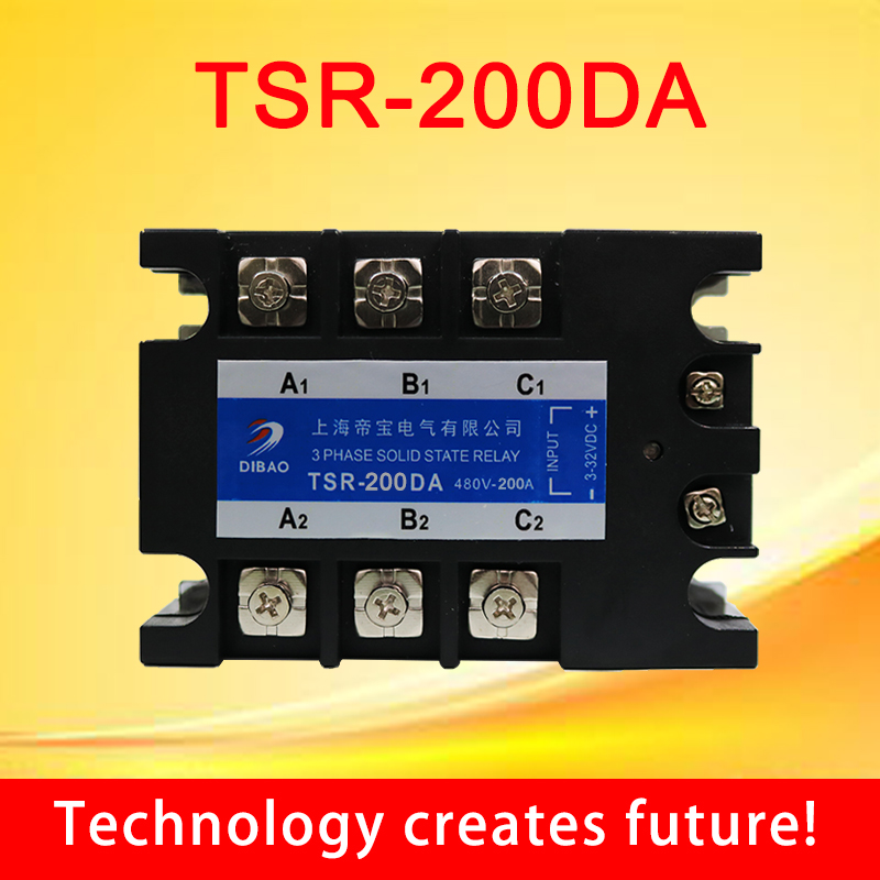 200A DC control AC three phase Solid state relay TSR 200DA 480V 3 phase-in Relays from Home Improvement on AliExpress - 11.11_Double 11_Singles' Day 1