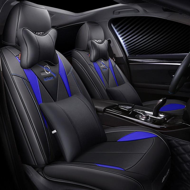 For Mitsubishi Lancer Galant ASX Pajero sport V73 V93 V95 V97 Car Seat Cover Cushions Senior Leather Car Seat Protector