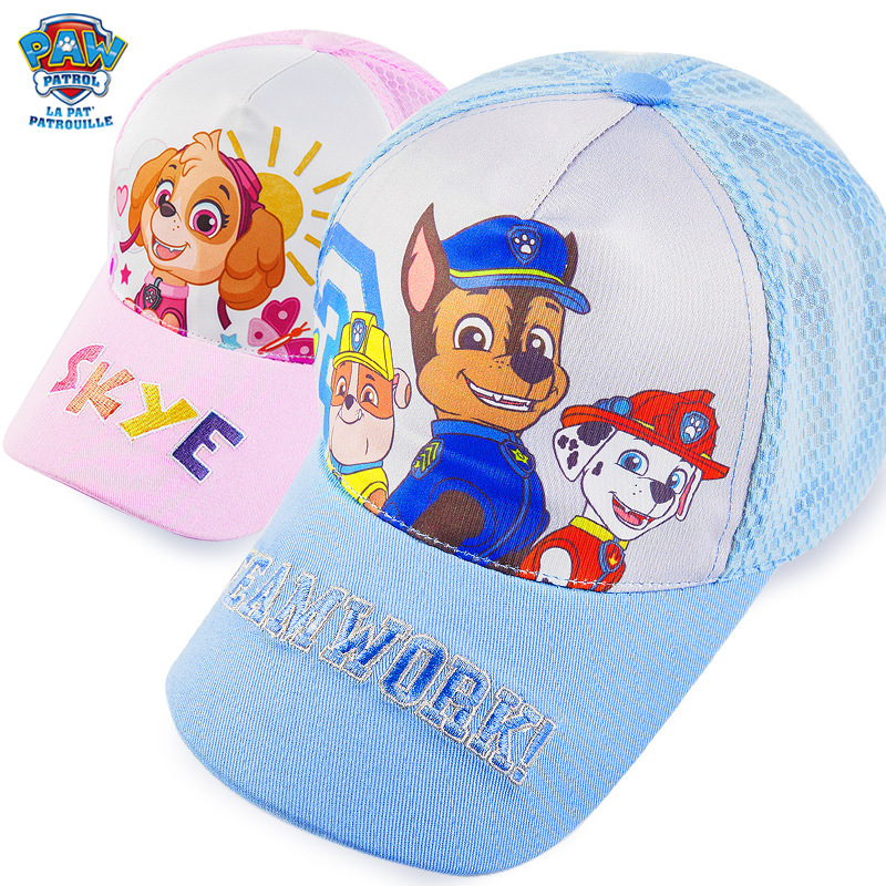 US $7.55 30% OFF|Genuine PAW Patrol Cotton Cute Children's Summer Hats Caps Headgear Chapeau Puppy Print Party Kids Birthday Gift Toy in Action & Toy