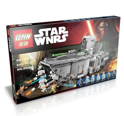 ФОТО Lepin 05003 Marvel model figures Star Wars First Order Transporter building blocks compatible to starwars With Lepin 75103