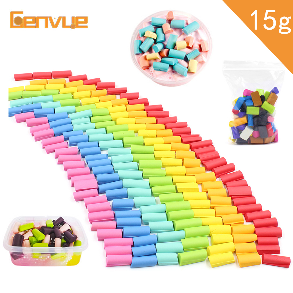 15g Foam Bead Lizun Addition For Slime Supplies Sponge Chunks Accessories Filler Charms For Slime Decoration Cloud Clay Mud Toys
