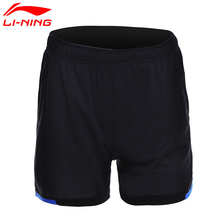 Li-Ning новые женские шорты для бадминтона, спортивные шорты с подкладкой из дышащего полиэстера AAPM132 CJFM17