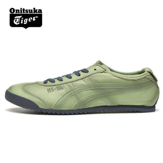 big sale 17084 478a7 US $120.0 |2018 Authentic ONITSUKA TIGER MEXICO 66 Men's Women Shoes  Sheepskin light green Unisex Low light Classic Sneakers Badminton shoe-in  ...