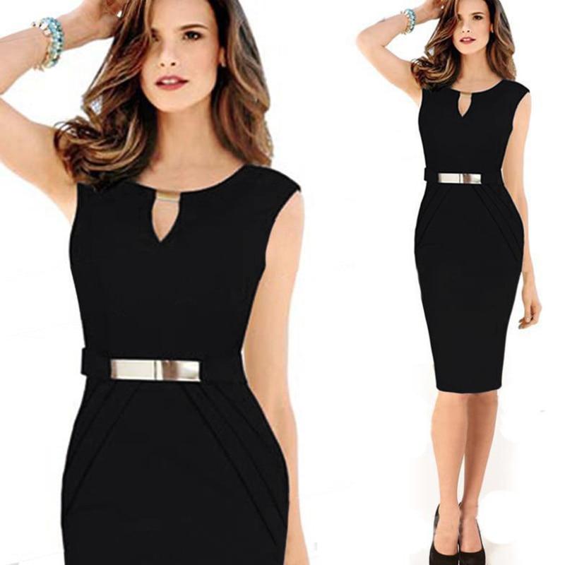 b5606a53e3e Модные женские платья 2014 года с завышенной талией длиной до колена с блестками  Элегантные повседневные облегающие платья карандаш для вечеринок Большие ...