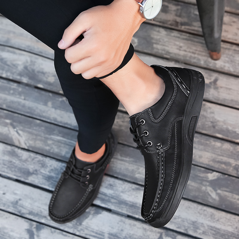 Mode Véritable K4 Sur Slip Cuir De Black Mocassins Hommes Oxford Chaussures Appartements Occasionnels brown En Doux Robe Main Des 6PqPH