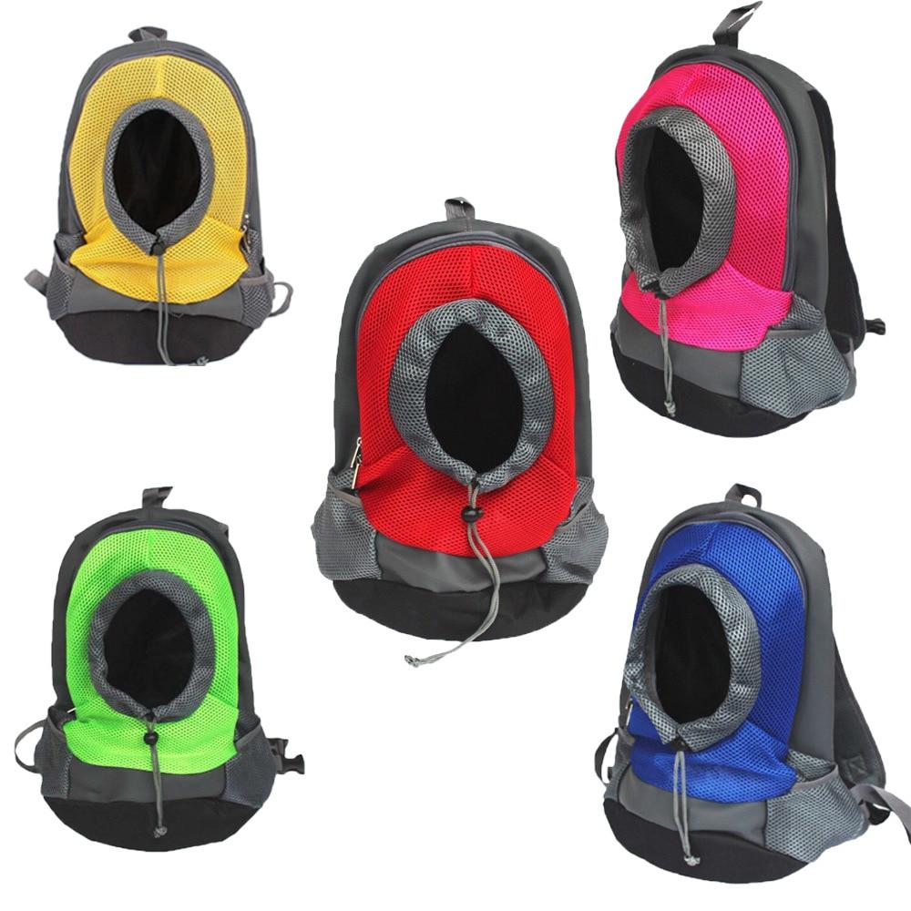 Pet Carrier Portable Travel Bag Pet Dog Front Bag Mesh Dog Carrier Backpack Head Out Double Shoulder Outdoor Doggy Bag