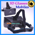 3D Glasses Helmet Universal Virtual Reality 3D Video Glasses For Iphone 6 Samsung Mobile Phones Google Cardboard Movie Cinema