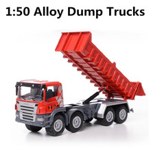 1:50  alloy car models , high simulation dump trucks , metal casting pull back function , free shipping