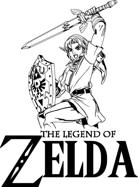 Manga Legend Of Zelda Quot Link Quot Gaming Diy Wall Art Sticker