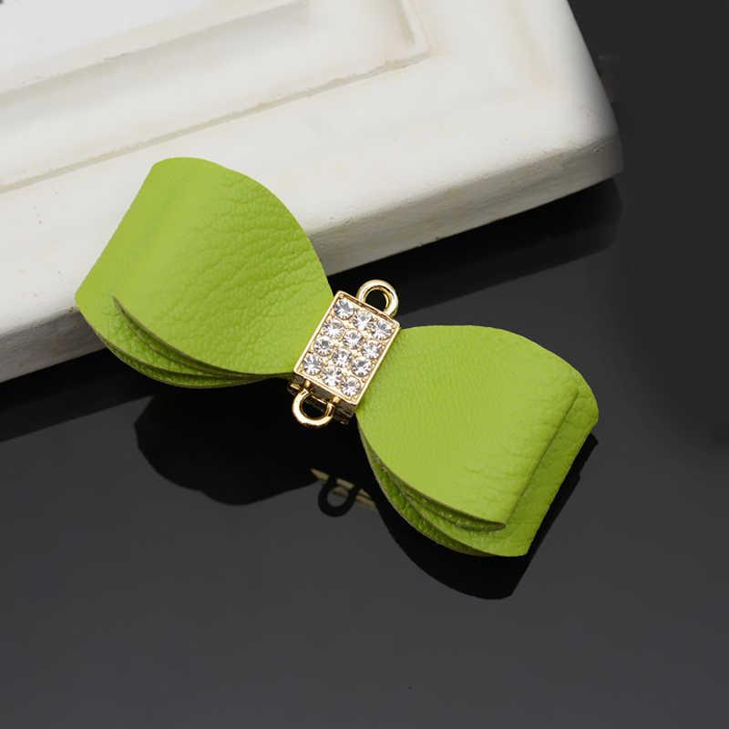 Accesorios para llaveros de doble capa con lazo de PU con adornos colgantes para mujeres y niñas clave Decoración