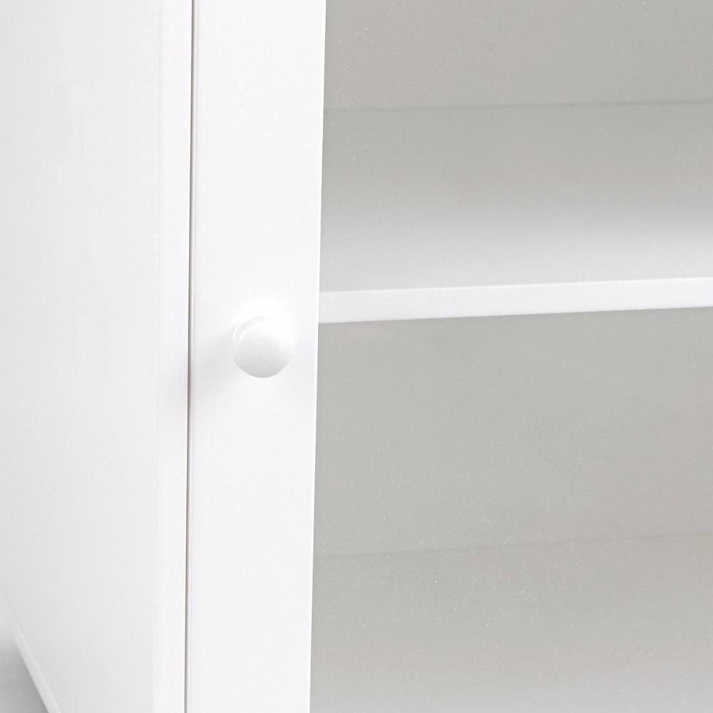 Giantex Bathroom Floor Cabinet End Table Storage Adjustable Shelf Organizer W/Door White HW59316 11